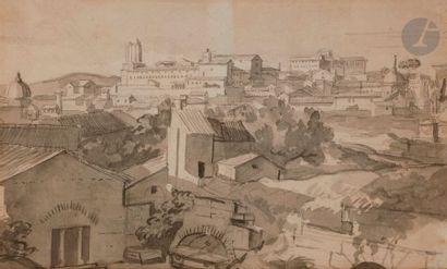 François GÉRARD, dit Baron GÉRARD (1770-1837) Vue d'une ville en Italie prise d'une...