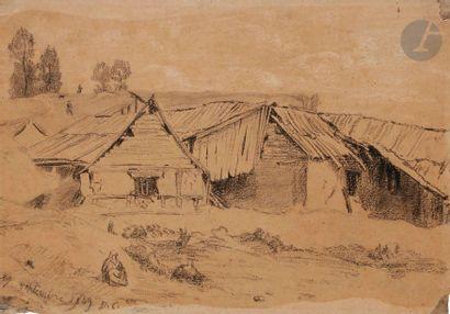 Alexandre-Gabriel DECAMPS (1803-1860) Scène...