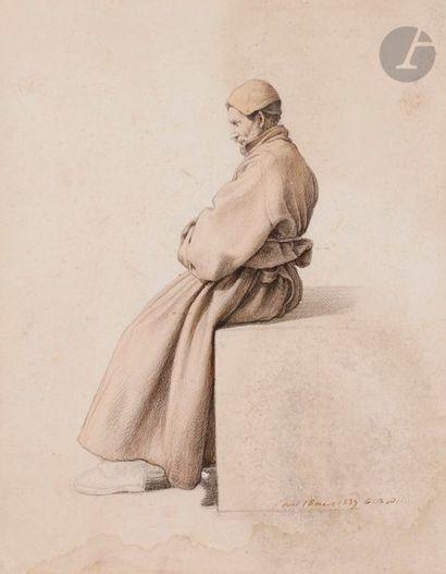 Guillaume BODINIER (1795-1872) Homme en robe...