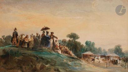 Camille ROQUEPLAN (1800-1855) Course à Vincennes...