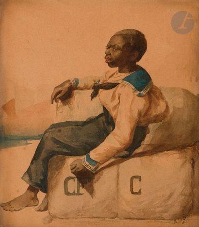 M. LE BEDIER (fin du XIXe siècle) Jeune Matelot,...