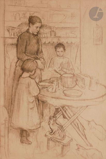 Henri Paul ROYER (1869-1938) Le Bénédicité,...