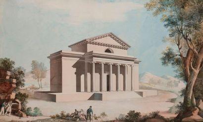 P. GRIMALDI (XIXe siècle) Barrière de Ledoux...
