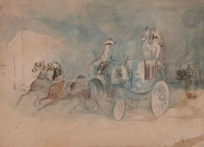 Constantin GUYS (1802-1892) Calèche londonienne...