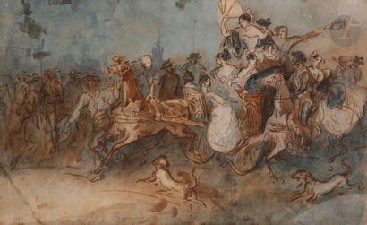 Constantin GUYS (1802-1892) Le Cabriolet...