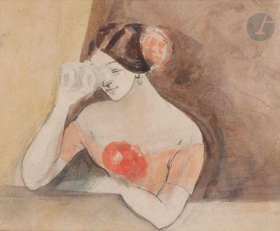 Constantin GUYS (1802-1892) Femme dans une...