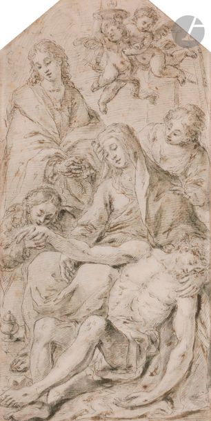École ITALIENNE du XVIIe siècle Pietà, Marie...