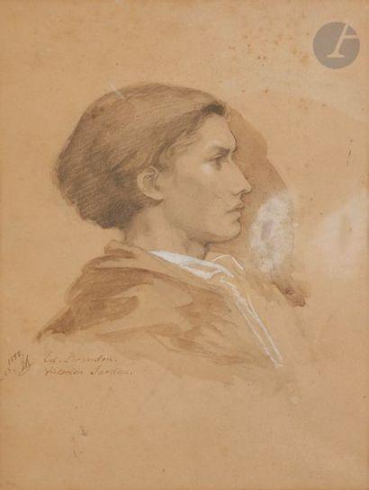 EDOUARD BRANDON (1831-1897) PORTRAIT DE VICTORIEN...