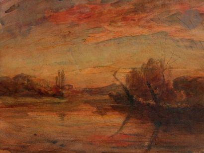 François-Auguste RAVIER (1814-1895) Crépuscule...