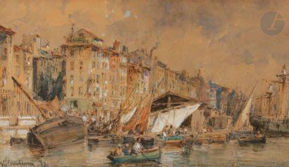 Vincent COURDOUAN (1810-1893) Vue animée...