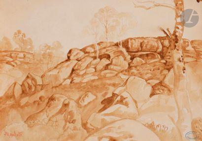 Armand POINT (1860-1932) Paysage de Moulotte...