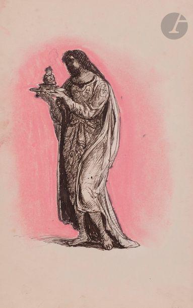 Armand POINT (1860-1932) Femme en pied, drapée,...
