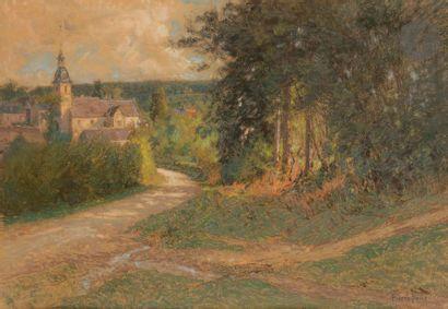 Pierre-Ernest PRINS (1838-1913) Chemin à...