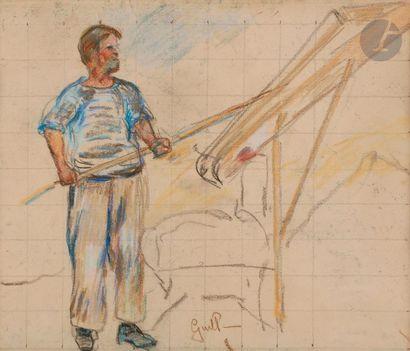 *Armand GUILLAUMIN (1841-1927) Le Cribleur...