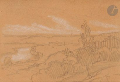 Camille PISSARRO (1830-1903) Paysage Dessin...