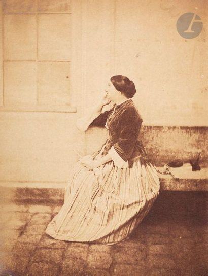 Charles Nègre (1820-1880) Femme assise au...