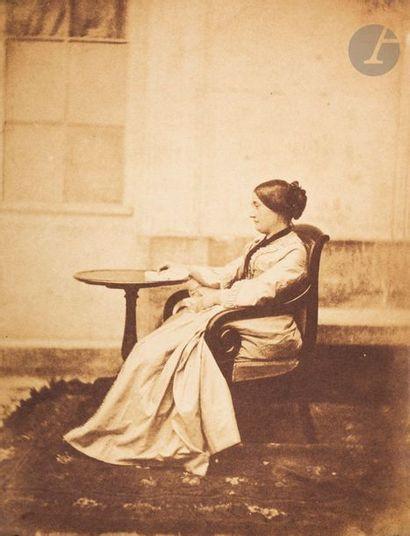 Charles Nègre (1820-1880) Femme assise au 21 quai de Bourbon, c. 1852. Deux (2)...