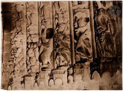 Charles Nègre (1820-1880) Cathédrale Notre-Dame de Paris, c. 1852. Voussures du...