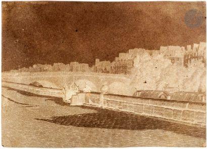 Charles Nègre (1820-1880) Paris, c. 1851. Le pont Marie vu du quai de Bourbon. Négatif...