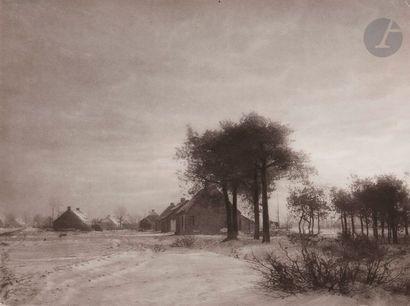 Léonard Misonne (1870-1943) Cre?puscule d'hiver,...