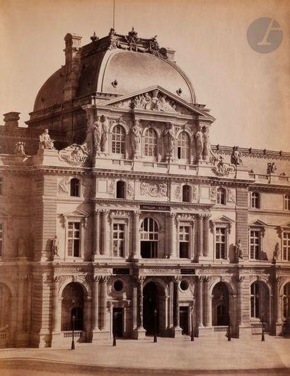 Gustave Le Gray (1820-1884) Le Louvre. Paris, c. 1858-1859. Pavillon Sully. Épreuve...