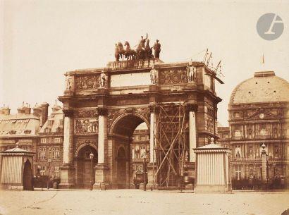 Félix Jacques Antoine Moulin (1802-1875) Paris, c. 1853. Arc du Carrousel et Tuileries....