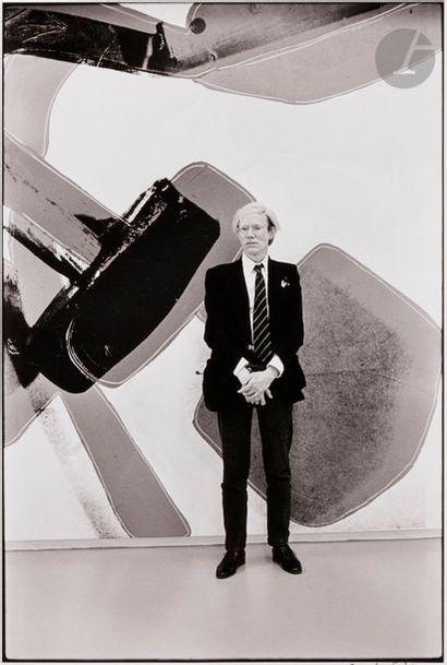 Carlos Freire (1945) Andy Warhol devant La...