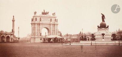 Pierre-Ambroise Richebourg (1810-1875) Inauguration de la place du Trône en l'honneur...