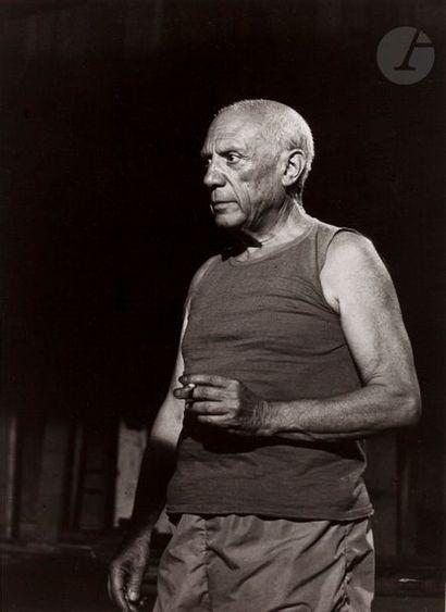 André Villers (1930-2016) Pablo Picasso pendant...