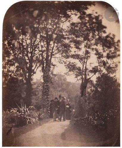 Édouard Delessert (1828-1898) (attribue? a?) Auteuil, c. 1860. Propriété et jardin...