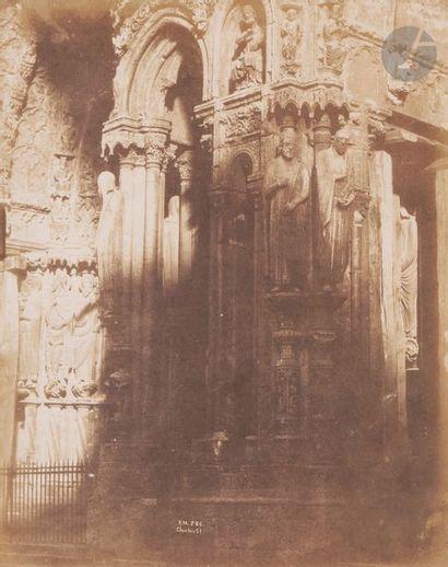 Émile Pécarrère (1816-1904) Cathédrale de Chartres, 1851. Portail nord. Épreuve...