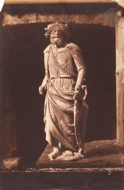 Charles Nègre (1820-1880) [Cathe?drale de Chartres ?], c. 1854. Moulage en pla?tre...