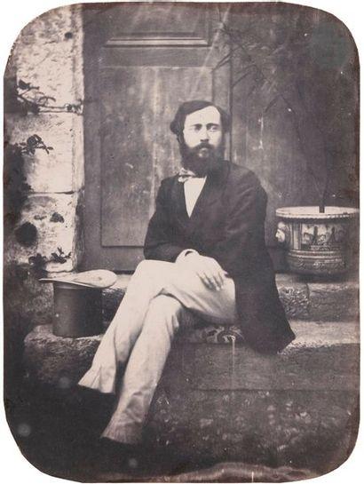 Roger du Manoir (1827-1888) Comte de Bagneux et Comtesse de Bagneux, c. 1853. Deux...