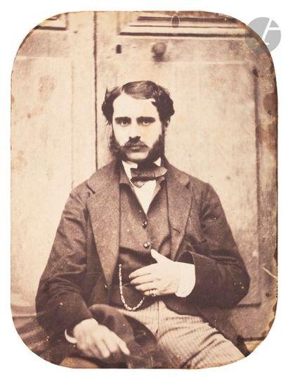 Roger du Manoir (1827-1888) Portrait d'homme...