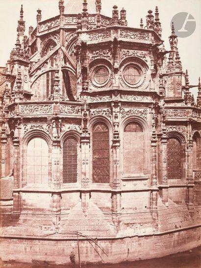 É?douard Baldus (1813-1889) Chevet de l'église...