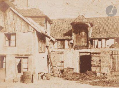 Charles Marville (1813-1879) Cour de ferme,...