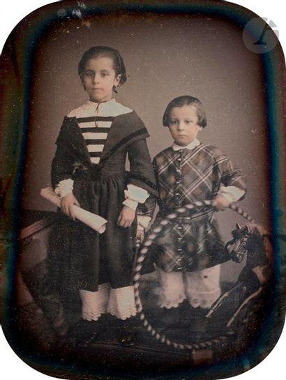 Alphonse Le Blondel (1814-1875) Enfants au...