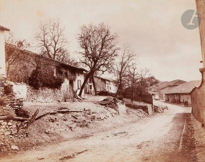 Auguste Violin (1816-1878) Route de village,...