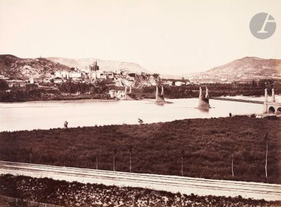 É?douard Baldus (1813-1889) Ancien pont suspendu...