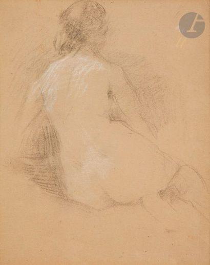Ernest LAURENT (1859 - 1929)  4 dessins Cachets de l'atelier sur 2 d'entre eu...