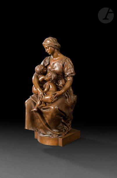 Paul Dubois (1829 - 1905) Maternité Épreuve...