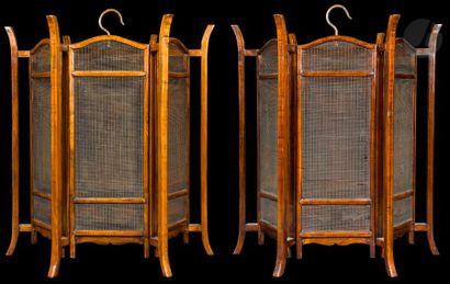 CHINE - XXe siècle Paire de lanternes hexagonales...