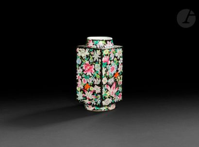 CHINE - XXe siècle Vase rectangulaire en...