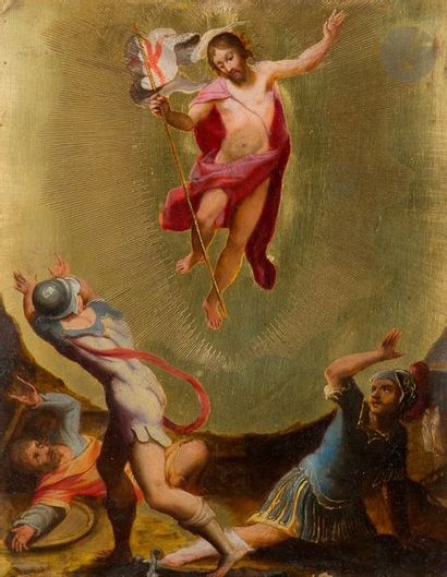 École FLAMANDE du XVIIe siècle, suiveur de Gerard SEGHERS La Transfiguration, rehauts...