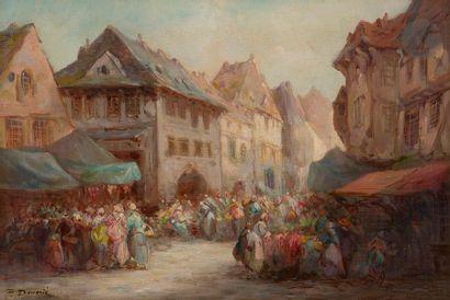 Paul DENARIE (Paris 1859 - 1942) Scène de...