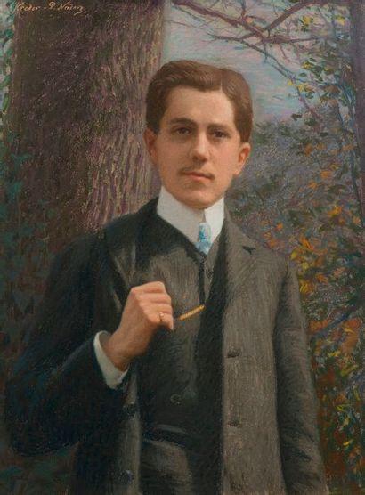 Paul-Eugène KREDER (1855 - ?) Portrait de P. Nadar Pastel Signé en haut à gauche 71...