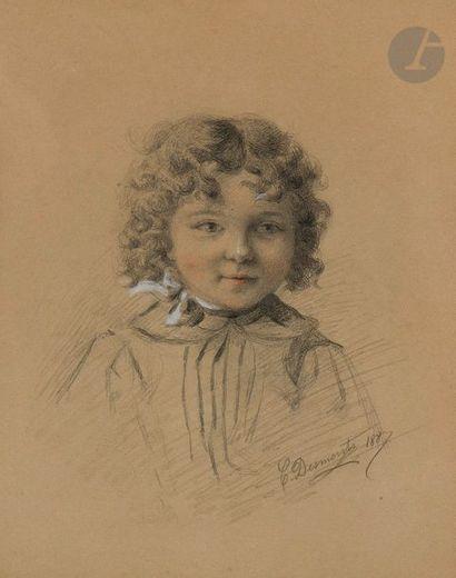 Desmonts Portrait d'enfant, 1887 Crayon...