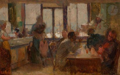 Victor MAREC (Paris 1862 - 1920) Au rendez-vous...