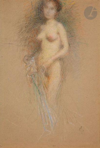 Ernest LAURENT (1859 - 1929) étude de femme...