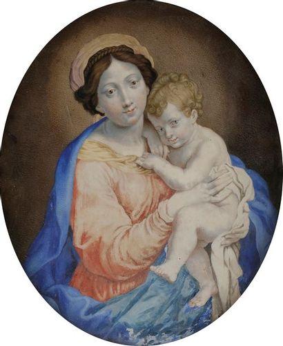 École FRANÇAISE du XVIIe siècle Vierge à...